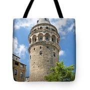 Galata Tower Landmark In Istanbul Turkey Tote Bag