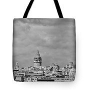 Galata Tower Mono Tote Bag