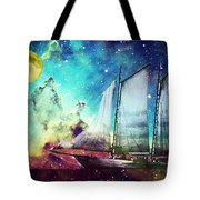 Galileo's Dream - Schooner Art By Sharon Cummings Tote Bag