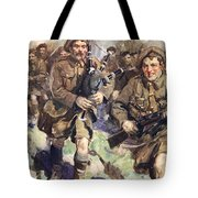 Gallant Piper Leading The Charge Tote Bag by Cyrus Cuneo