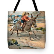 Galloping Donkey At The Beach Tote Bag