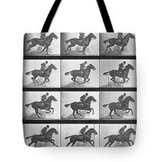 Galloping Horse Tote Bag by Eadweard Muybridge