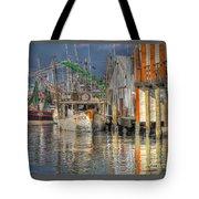 Galveston Shrimp Boats Tote Bag