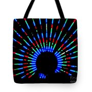 Gama Ray Light Burst Abstract Tote Bag