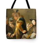 Gamblers In The Foyer Tote Bag by Johann Heinrich Tischbein