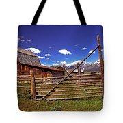 Gambrel Barn And Tetons Tote Bag