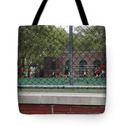 Game Behind The Fence Tote Bag