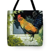 Gamecock And Hen Tote Bag by Carol Walklin
