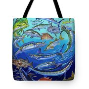 Gamefish Collage In0031 Tote Bag