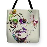 Gandhi Watercolor Tote Bag