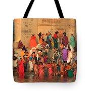 Ganges Pilgrims Tote Bag