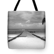 Gangplank Of Perfection Black And White Tote Bag