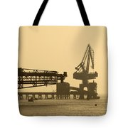 Gantry Crane In Port Tote Bag
