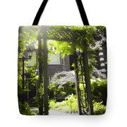 Garden Arbor In Sunlight Tote Bag by Elena Elisseeva
