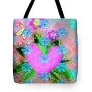Garden Art - Abstract  Tote Bag