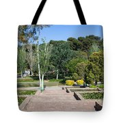 Garden At Montjuic In Barcelona Tote Bag