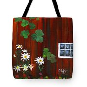 Garden At The Red Barn Tote Bag