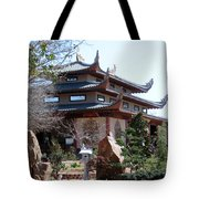 Garden At The Temple In Grand Prairie Texas Tote Bag