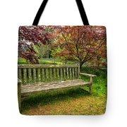 Garden Bench Tote Bag