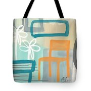 Garden Chair Tote Bag by Linda Woods