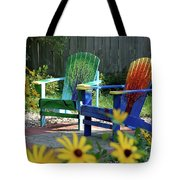 Garden Chairs Tote Bag