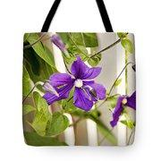 Garden Clematis Tote Bag