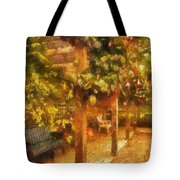 Garden Flowers With Bench Photo Art 01 Tote Bag