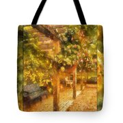 Garden Flowers With Bench Photo Art 02 Tote Bag