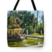 Garden Fountain - Iconic Fountain At The Huntington Library And Botanical Ga Tote Bag