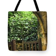 Garden Gate In Sarlat Tote Bag by Elena Elisseeva
