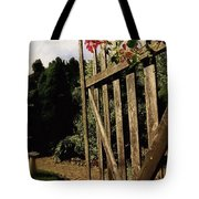 Garden Gate Welcome Tote Bag