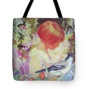 Garden Girl - Antique Collage Tote Bag
