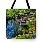 Garden Goldfish Pond Tote Bag