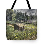 Garden Houses On Daffodil Hill  Tote Bag