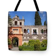 Garden In Alcazar Palace Of Seville Tote Bag