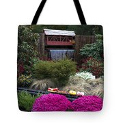Garden Miniature Train Tote Bag