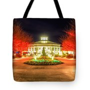 Garden Night Scene At Christmas Time In The Carolinas Tote Bag