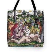 Garden Of Eden Historiae Animalium Tote Bag