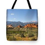 Garden Of The Gods And Pikes Peak - Colorado Springs Tote Bag