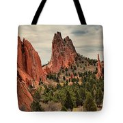 Garden Of The Gods Jagged Peaks Tote Bag