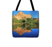 Garden Of The Gods Reflecting Tote Bag by Diane Alexander