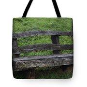 Garden Park Bench Tote Bag