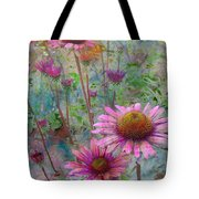 Garden Pink And Abstract Painting Tote Bag