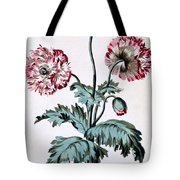 Garden Poppy With Black Seeds Tote Bag