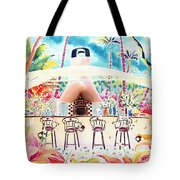 Garden Restaurant Tote Bag