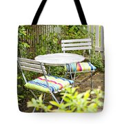 Garden Seating Area Tote Bag