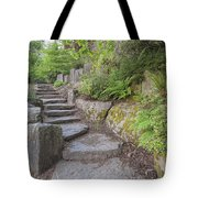 Garden Stair Steps With Natural Rocks Tote Bag