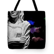 Garden Statue At Night Tote Bag