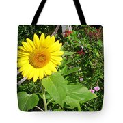 Garden Sunflower Tote Bag