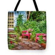 Garden Treasures At Aunt Eden's By Diana Sainz Tote Bag